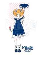 Mimi blue dress by ninfa-de-ciudad