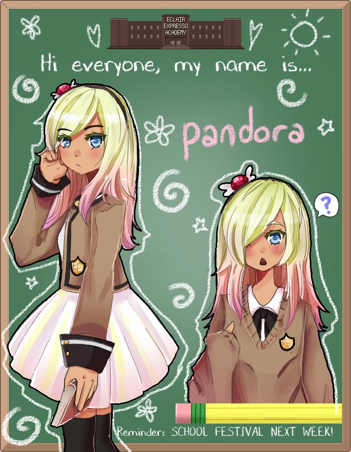 EE: Highschool AU Pandora by meibellum