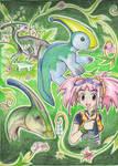 Zoe Parasaurolophus by shazy