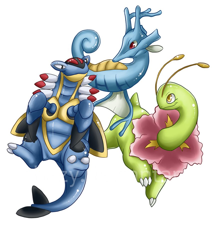 Three Awesome Pokemon by shazy