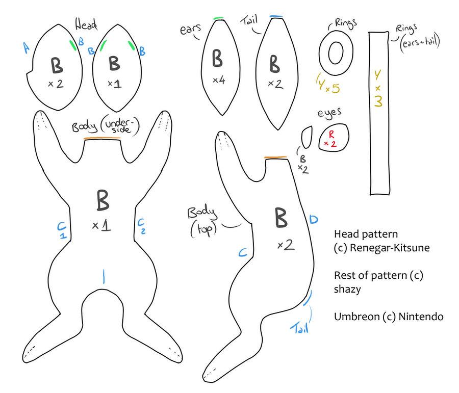 Umbreon Plush Pattern