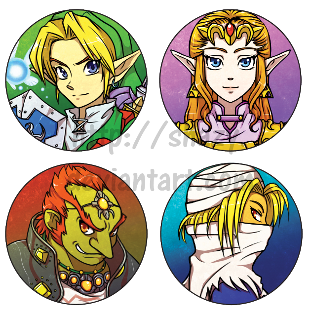Legend of Zelda Button-badges -for sale- by shazy