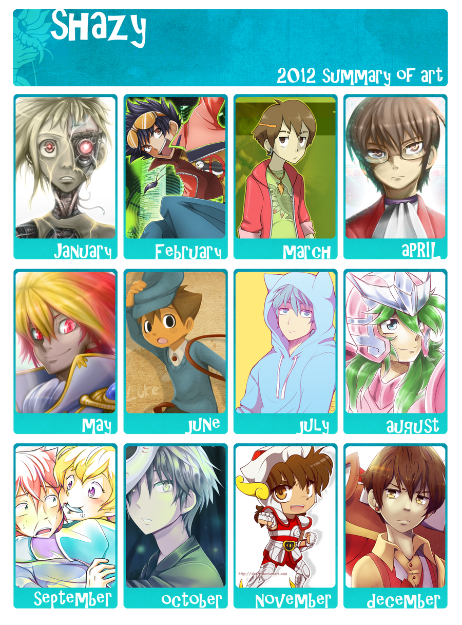 2012 Art Summary by shazy