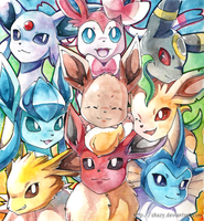 Eeveelutions by shazy