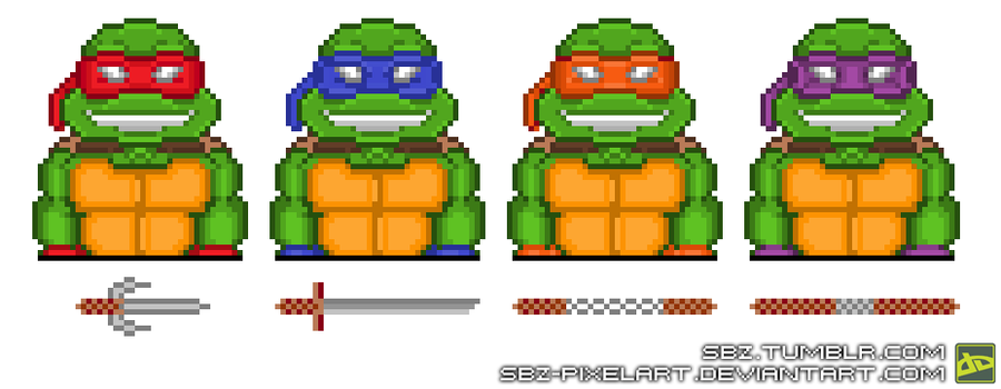 Ninja Turtles #Quarters By SBZ PixelArt ...