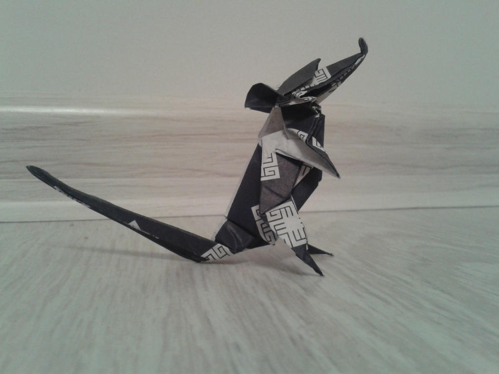 Origami rat paper black by chvictoria on deviantart origami rat paper black by chvictoria jeuxipadfo Images