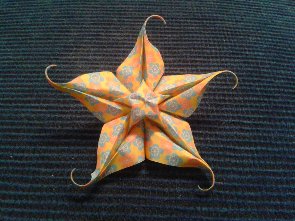Origami star flower by chvictoria on deviantart origami star flower by chvictoria mightylinksfo