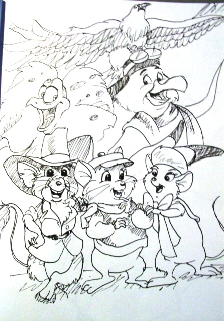 the rescuers coloring pages the rescuers by sarangojena