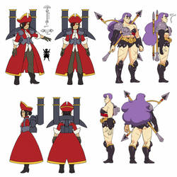 Baozhai and Phoebe Model Sheets by IndivisibleRPG