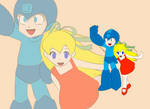 Megaman and Roll
