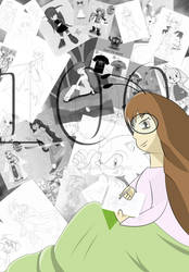100th drawing by jenhamlin