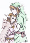 Link And Zelda, embrace