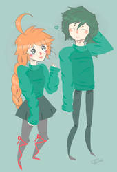matching sweaters by crown-rachel