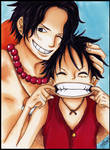 ace and luffy one piece