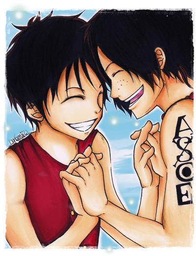 request - luffy and ace by KawaiiiPandaMuffiiin