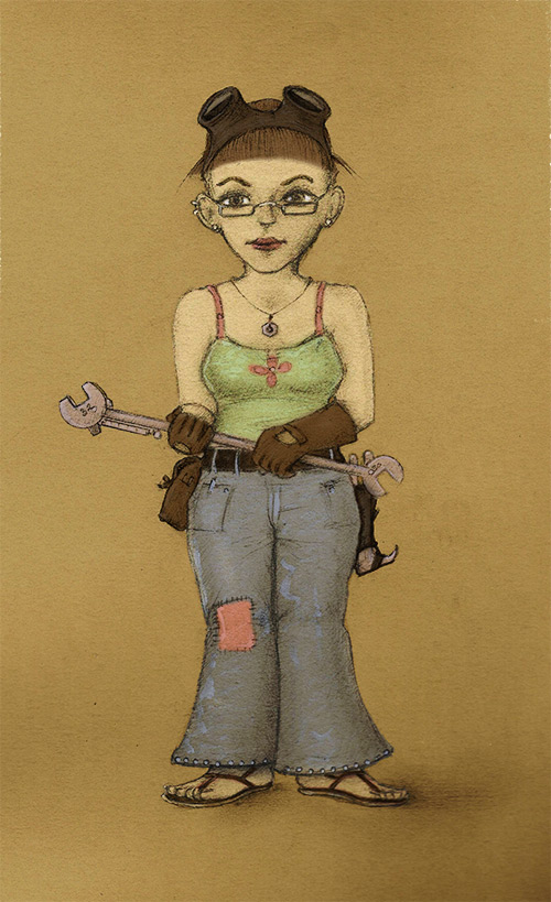 Gnome Girl by Si1verange1