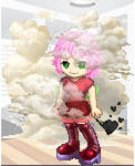 Amy Rose gassing it up gaia online style.