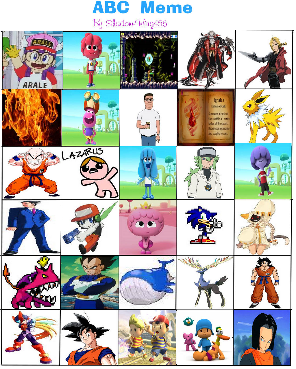 Abc Meme (soniclover562 version)