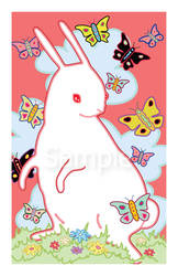 Rabbit and Butterflies