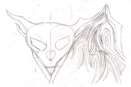 skull head tat WIP