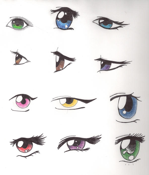 Anime Eyes by IcePanthress