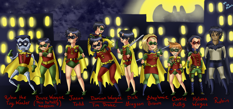Holy Flock of Robins, Batman! by DaPandaBanda