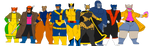 The Animal Gang as the X-Men by DiegBareno