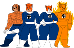 The Animal Gang as the Fantastic Four by DiegBareno
