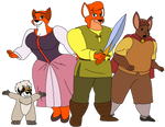 The Animal Gang in The Black Cauldron by DiegBareno