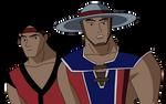 Liu Kang and Kung Lao JLU Style by DiegBareno