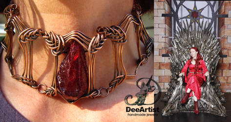 Melisandre Game of Thrones necklace by DeeArtist