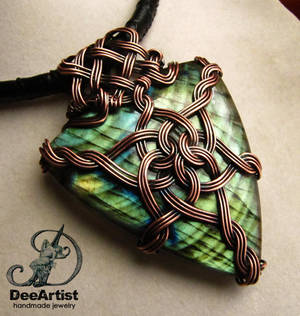 Queen of Asgard Celtic Knot Necklace by DeeArtist