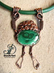 George of The Jungle, wirewrap Malachite necklace by DeeArtist321