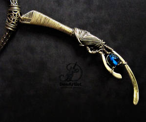 Loki's Spear Miniature Unisex brass wire pendant