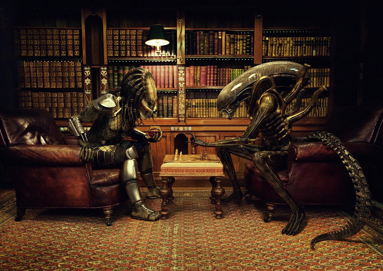 GAME DAY #6: Predators @ Sens - 7:00pm ET - Sat. Oct. 17 2015 Alien_vs_predator__chess_by_xidon