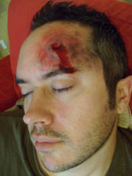 make up test bullet wound by pure1morning1scream