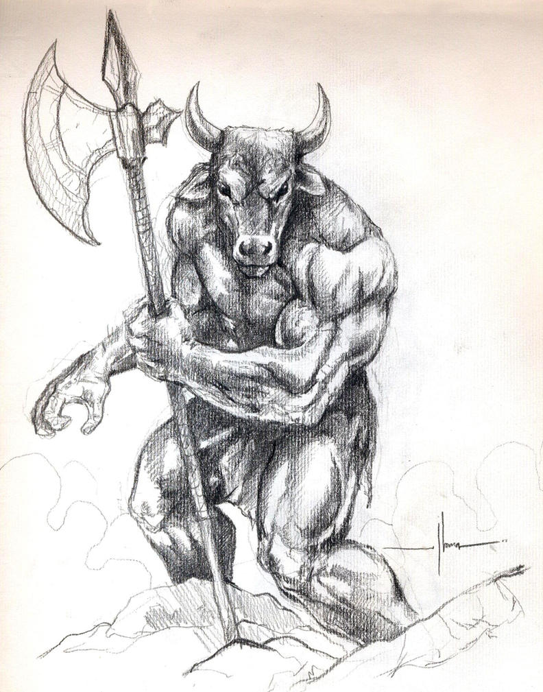 Minotaur by Demacros on DeviantArt