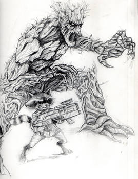 Groot and Rocket...