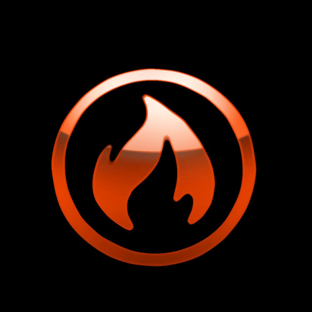 fire logo by darkdoomer