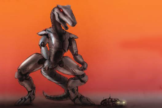 giant dinosaur robot nuclear mecha