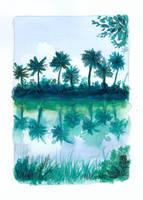 aqua_palmiers by gribouille