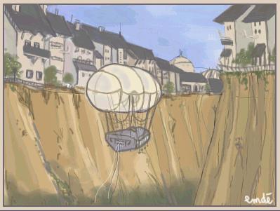 ballon ciel by gribouille
