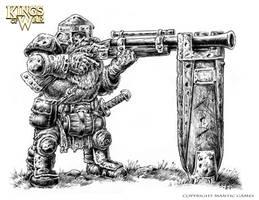 Kings of War-Dwarf with Jezzail