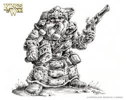 Kings of War-Dwarf Warsmith by vikingmyke