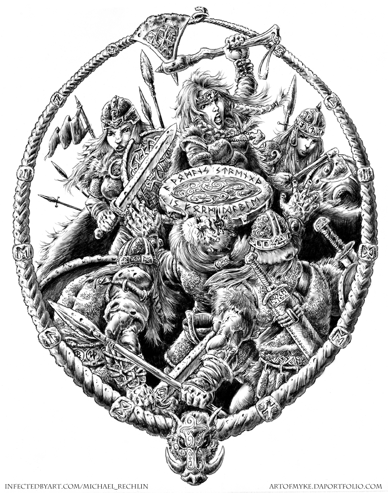Shieldmaidens by vikingmyke