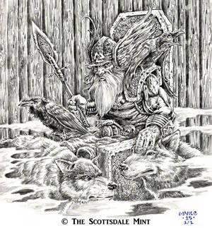 Odin on Hlidskjalf