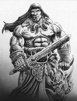 Conan w/Demon Head