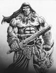 Conan w/Demon Head by vikingmyke