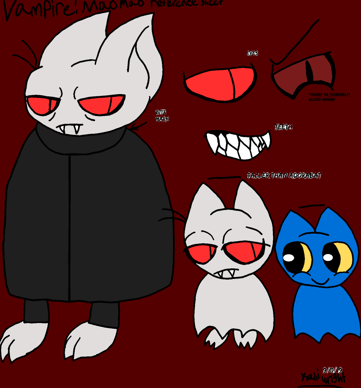Mmhoph Vampire Mao Mao Reference Sheet By Kadiandsonic On Deviantart Adorabat scream (only obtainable by doing /tag @p add purehearted). mmhoph vampire mao mao reference sheet