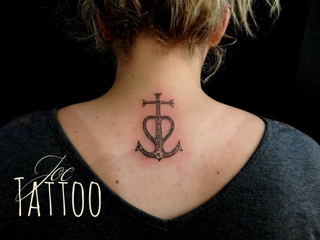 Tatouage Croix Camargaise Ornementee Nuque By Jo3jeans On Deviantart